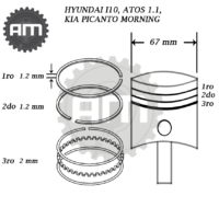 Anillos Motor Hyundai i10