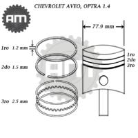 Anillos Motor Aveo 1.4