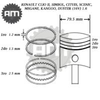 Anillos Motor Clio II