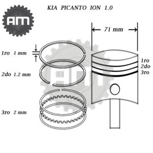 Anillos Motor Kia Picanto Ion 1.000